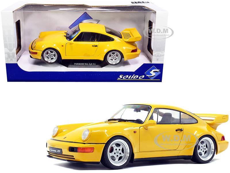 1990 Porsche 911 964 3.8 RS Jaune Yellow 1/18 Diecast Model Car by Solido