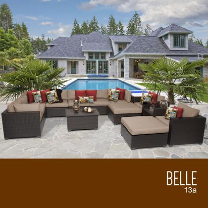 BELLE-13a Belle 13 Piece Outdoor Wicker Patio Furniture Set 13a with 1 Cover in