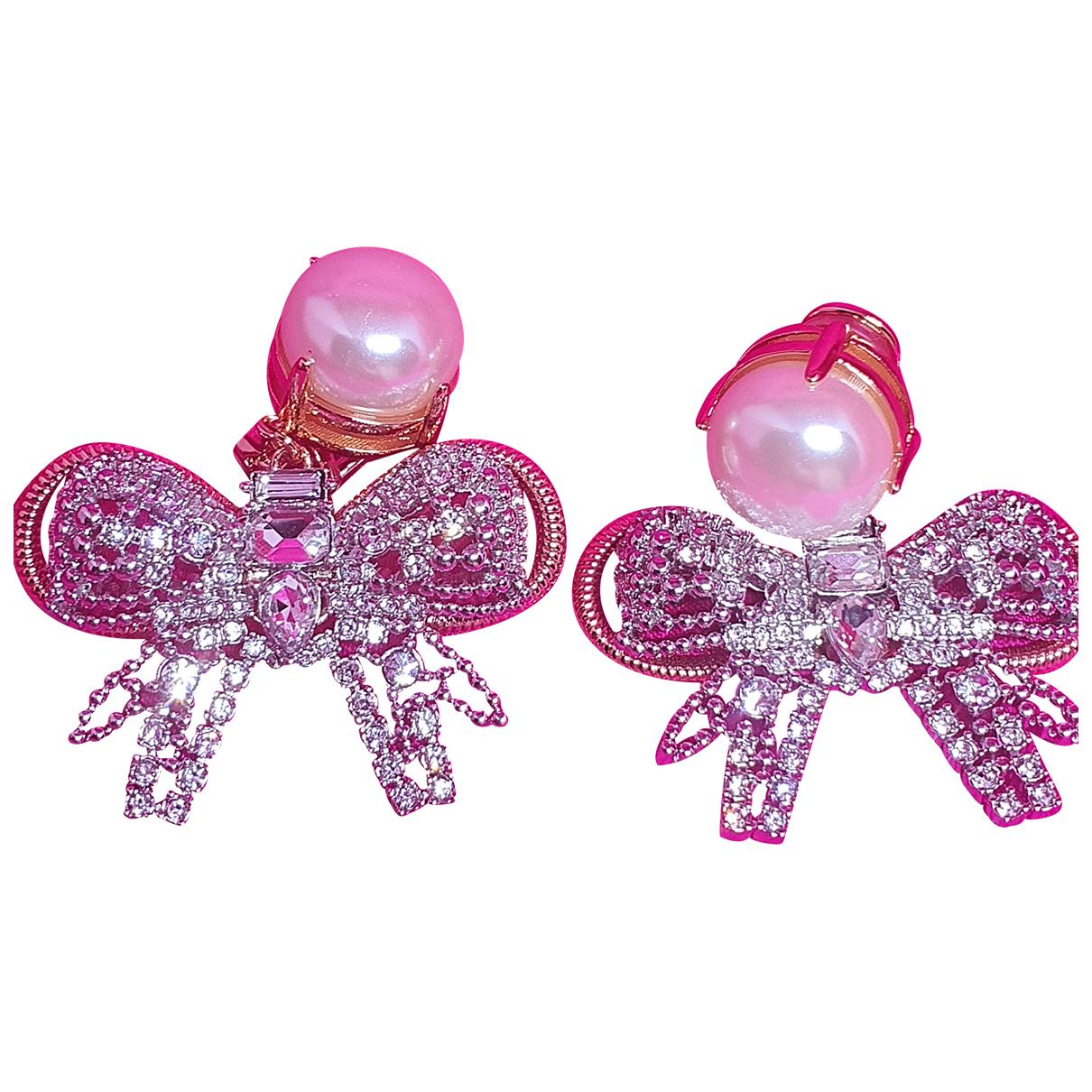 Miu Miu - Boucles doreilles   pour femme en cristal - dore