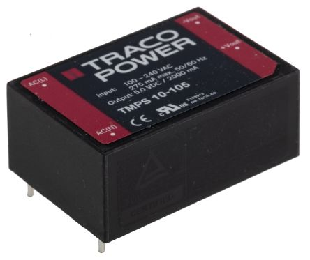 TRACOPOWER , 10W Encapsulated Switch Mode Power Supply, 5V dc, Encapsulated