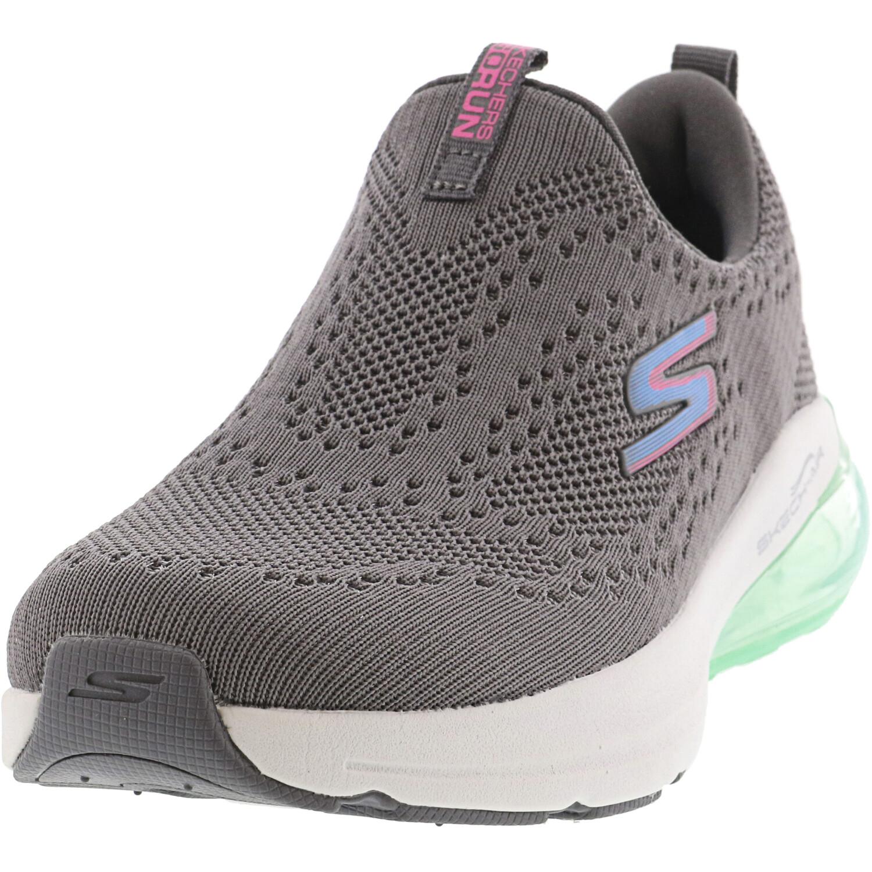 Skechers Women's Go Run Air - Halos Charcoal / Blue Ankle-High Mesh Running 5M