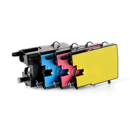 Compatible Brother MFC-J6710DW Ink Cartridges Black/Cyan/Magenta/Yellow by Moustache, 4-Pack Combo - Extra High Yield