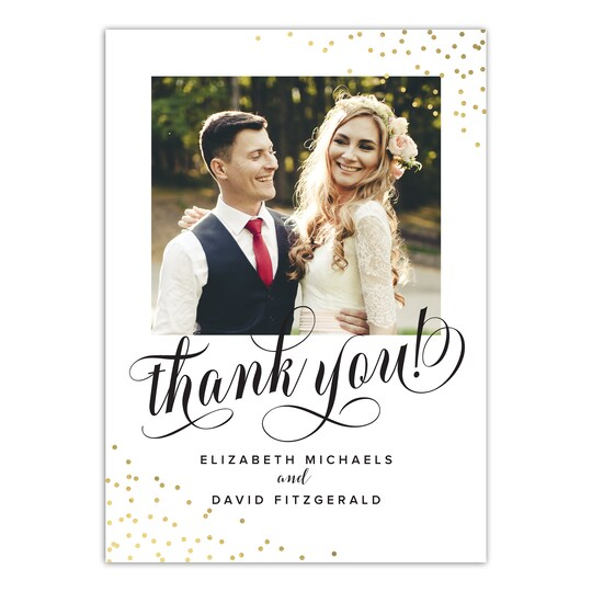 20 Pack of Gartner Studios® Personalized Always & Forever Flat Foil Wedding Thank You Card in White   5