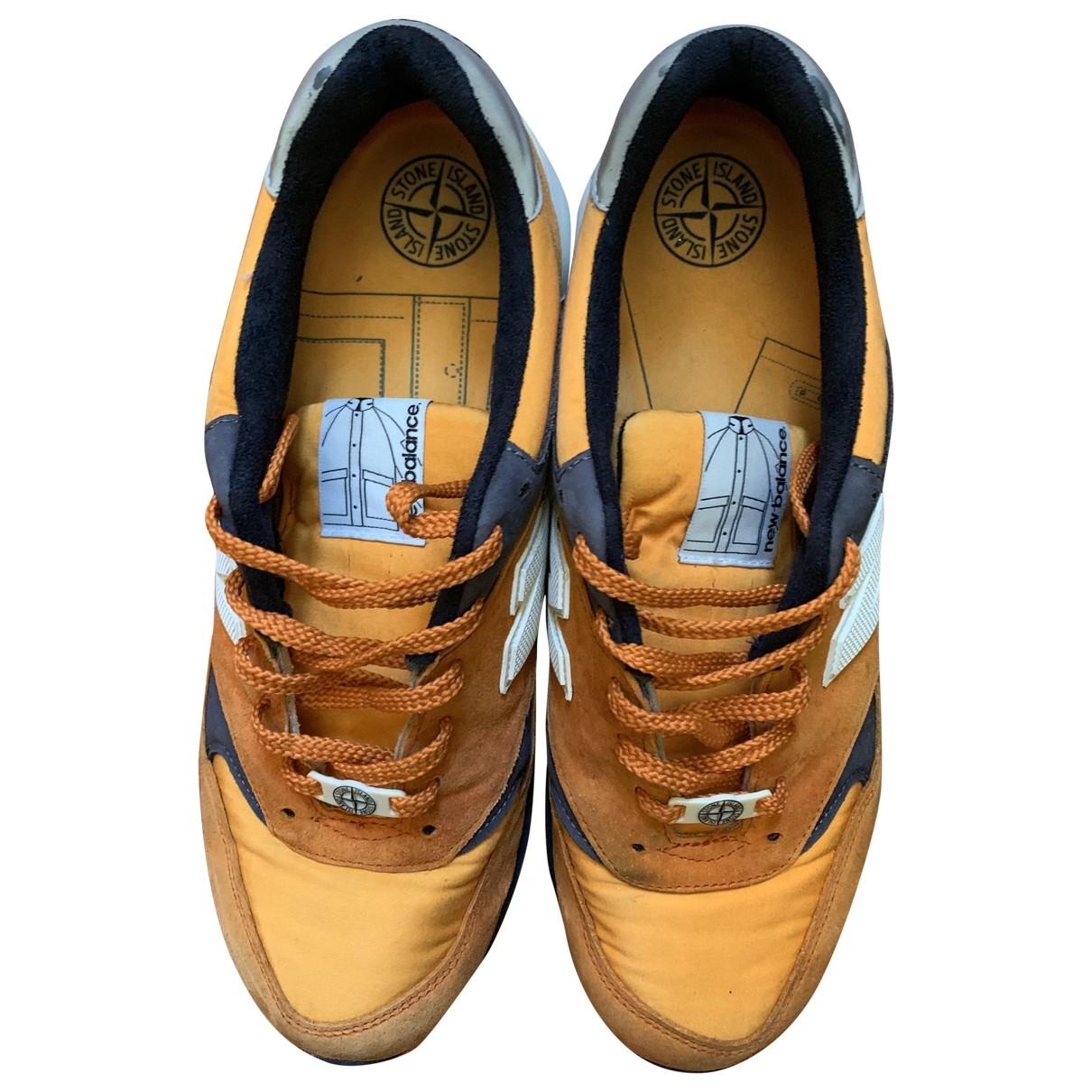 New Balance - Baskets   pour homme en suede - orange