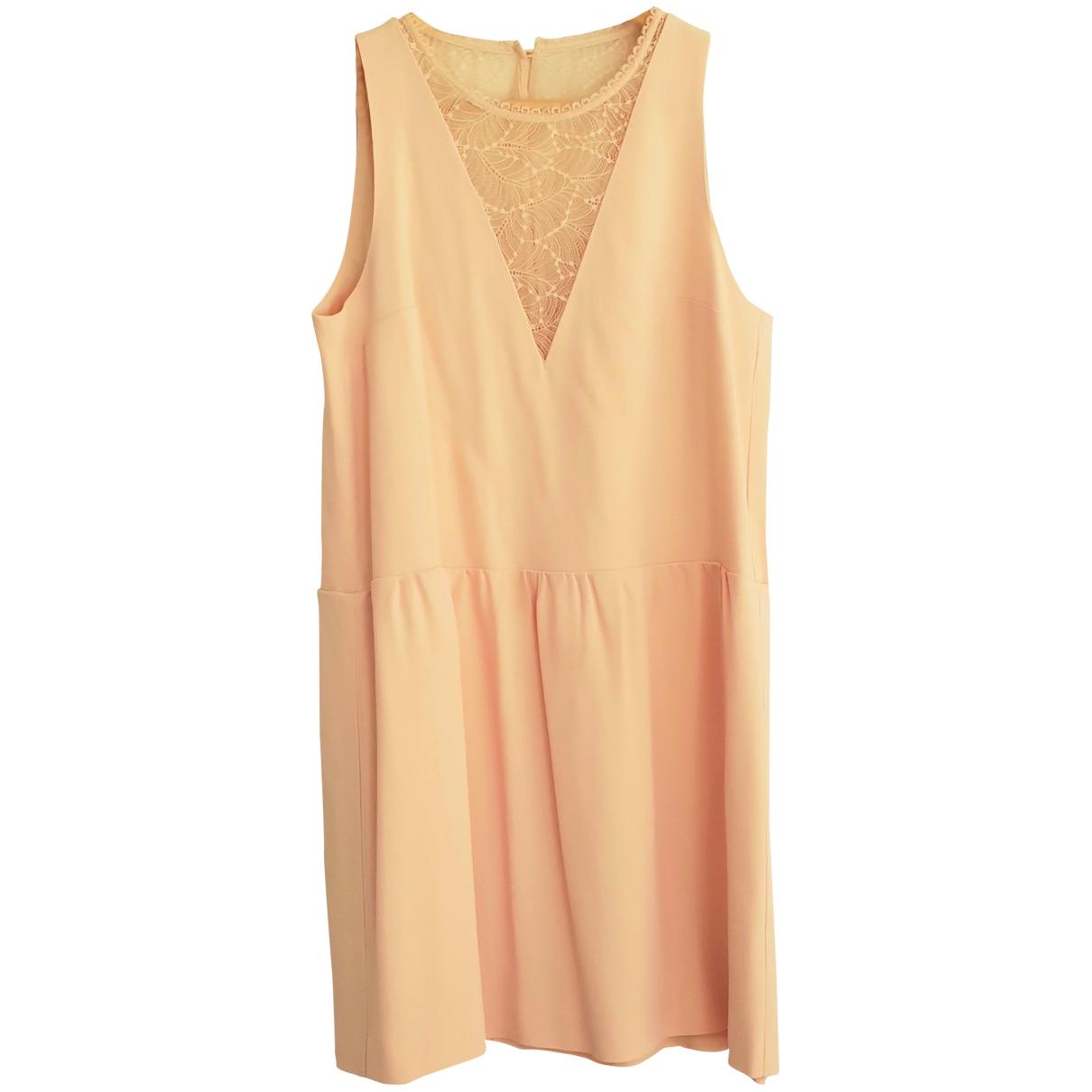 Sezane Spring Summer 2019 Kleid in  Beige Viskose