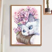 DIY Diamand Malerei mit Katze Muster ohne Rahmen