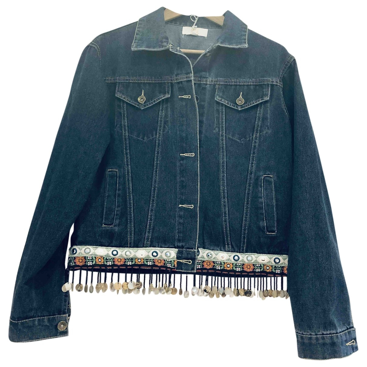 Non Signé / Unsigned \N Blue Denim - Jeans jacket for Women S International