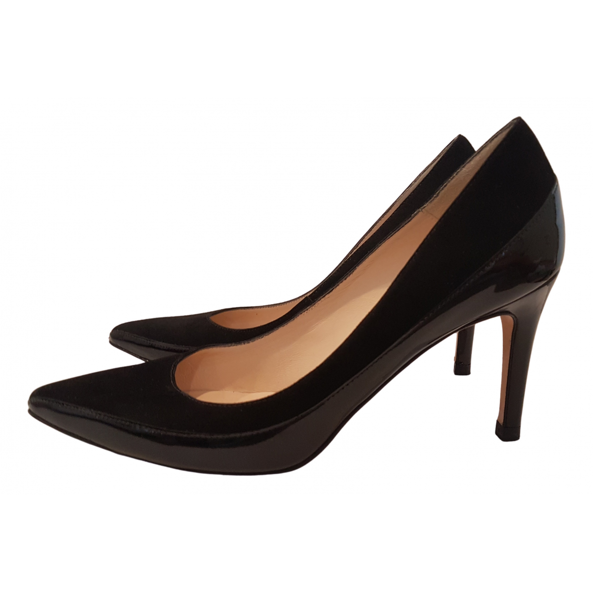 Lk Bennett N Black Patent leather Heels for Women 37 EU