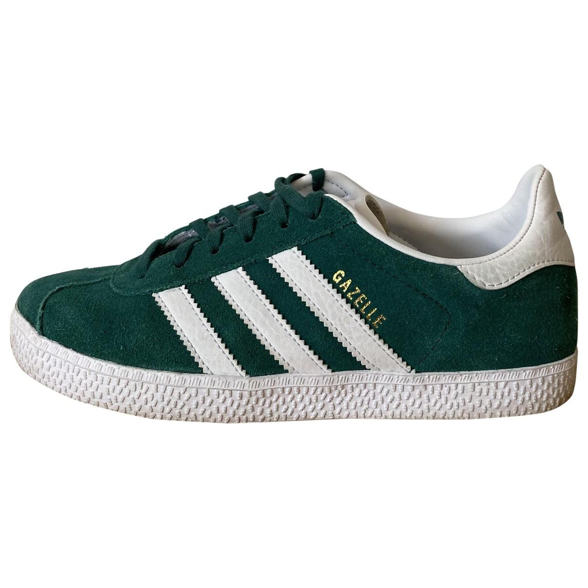 Adidas Gazelle Sneakers in  Gruen Leinen