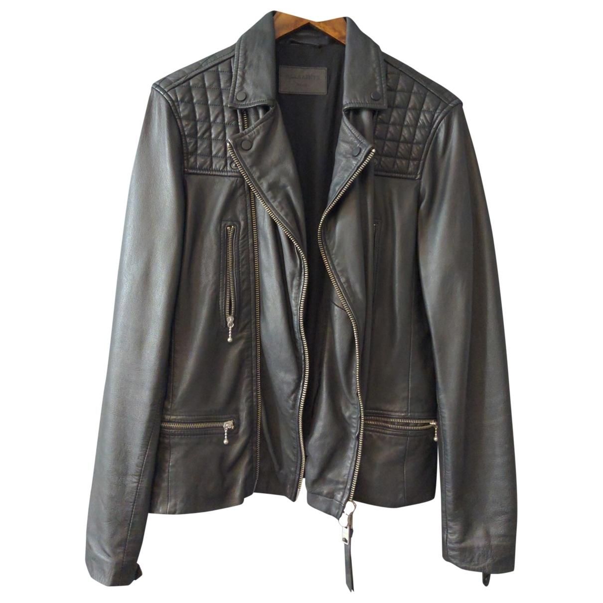 All Saints \N Black Leather jacket  for Men S International