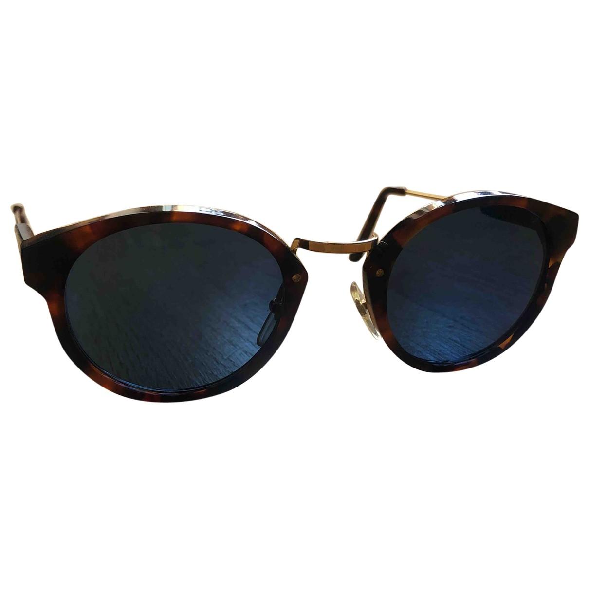 Retrosuperfuture \N Sonnenbrillen in  Braun Metall