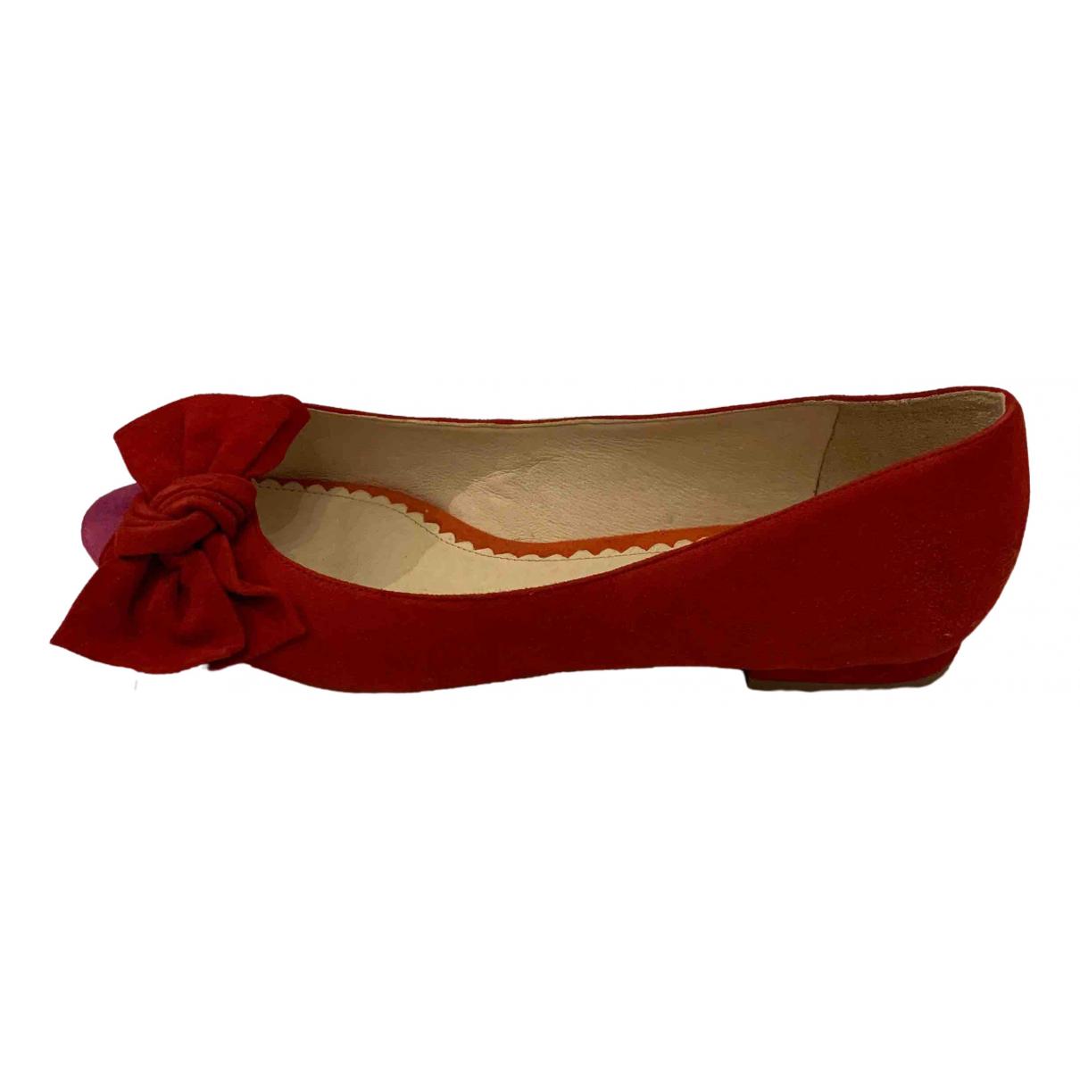 Mellow Yellow \N Red Leather Ballet flats for Women 40 EU
