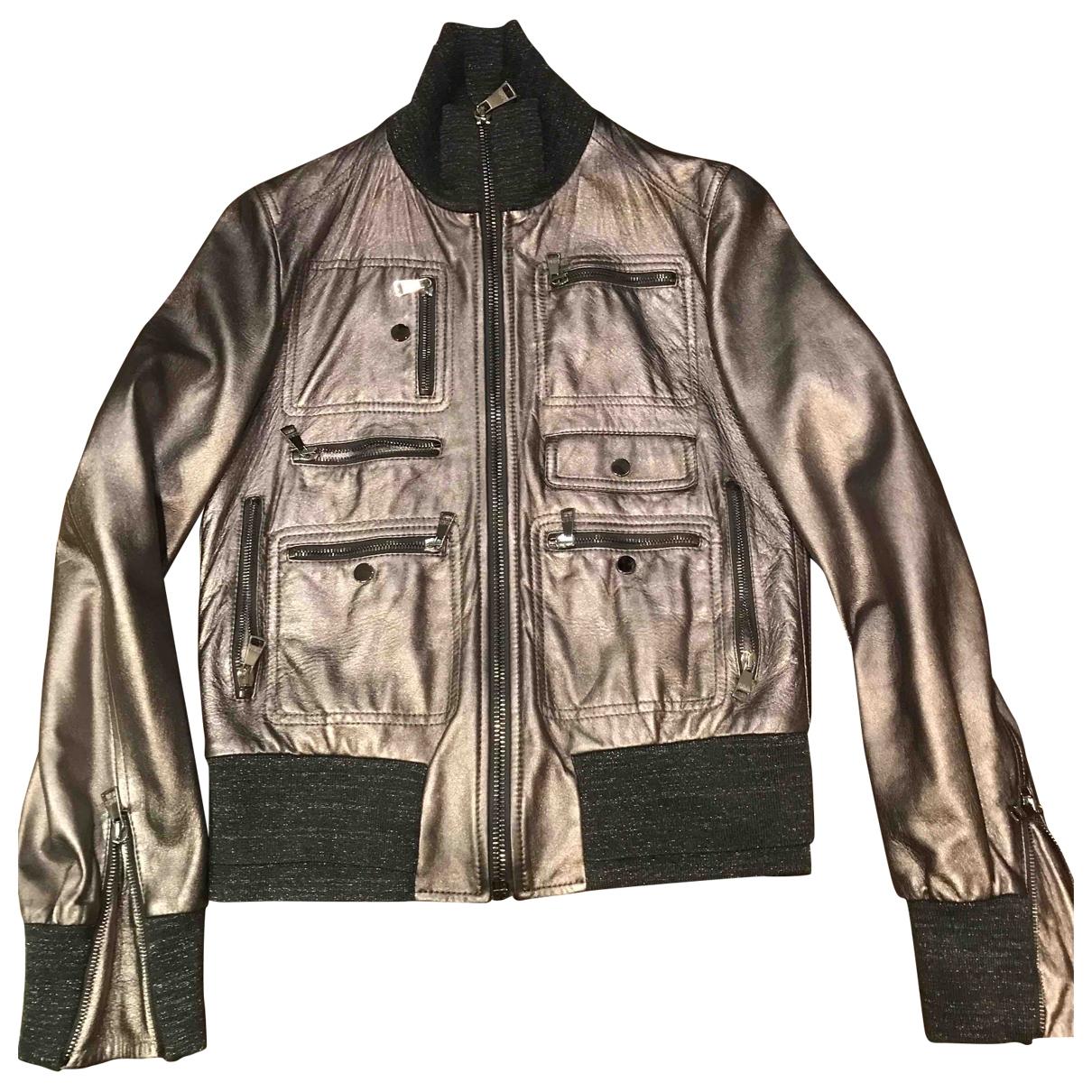 Dolce & Gabbana \N Lederjacke in  Metallic Leder