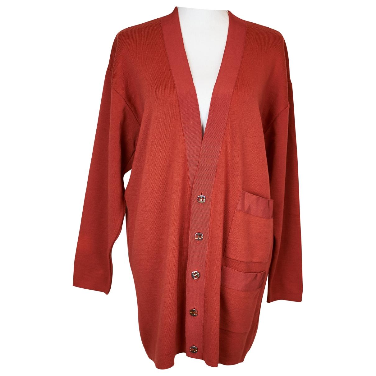 Salvatore Ferragamo \N Pullover in  Orange Wolle