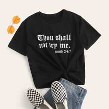 T-Shirt mit Mond Grafik