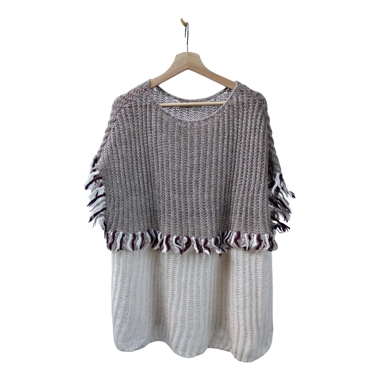 - Pull Oversize pour femme en laine - ecru