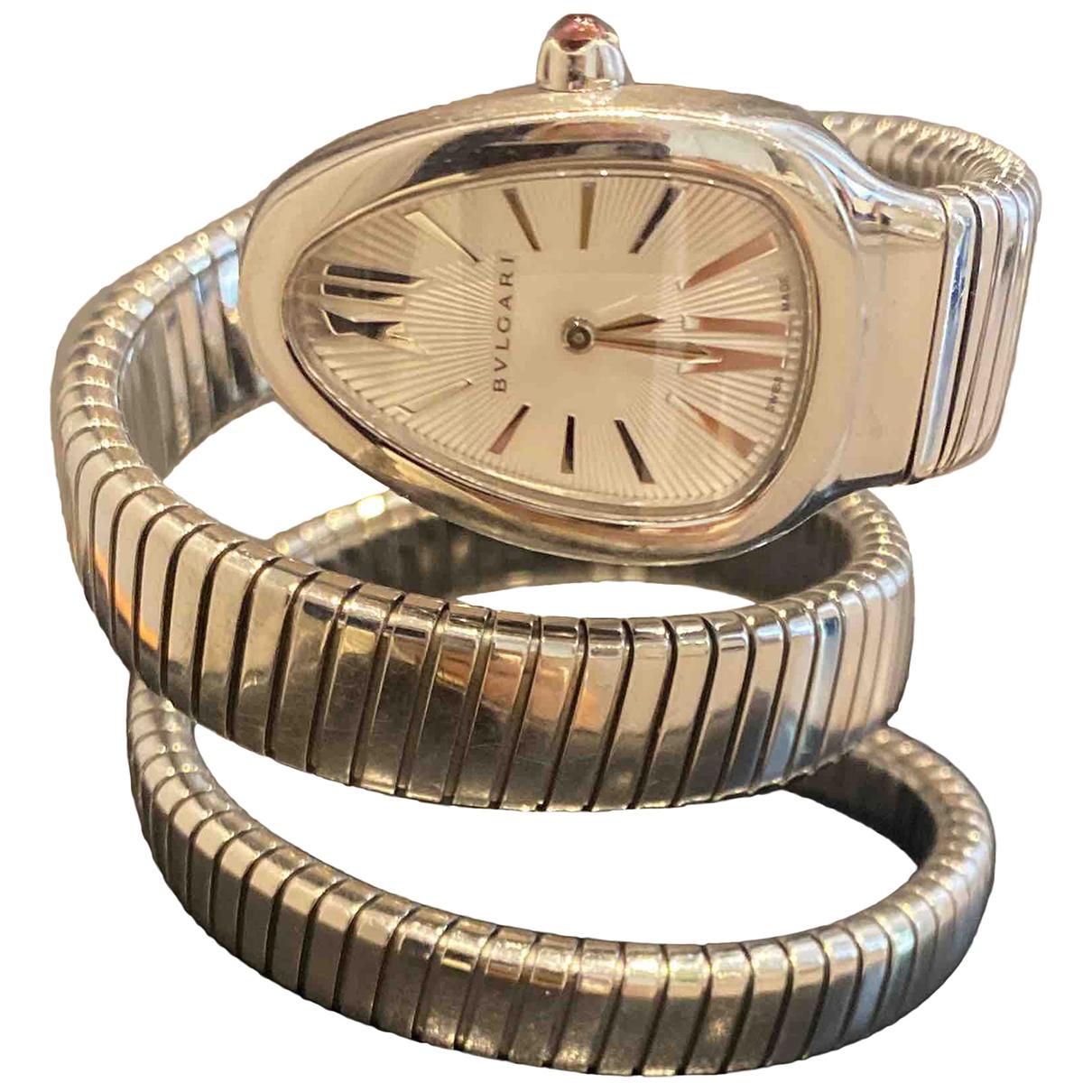 Bvlgari Serpenti Uhr in  Silber Stahl
