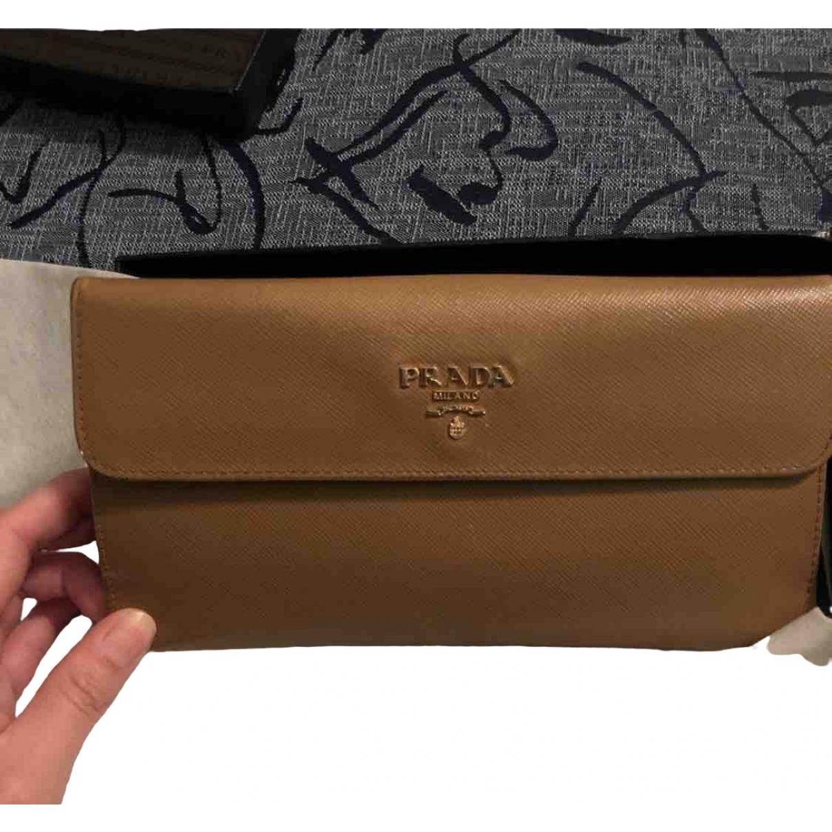 Prada \N Camel Leather wallet for Women \N