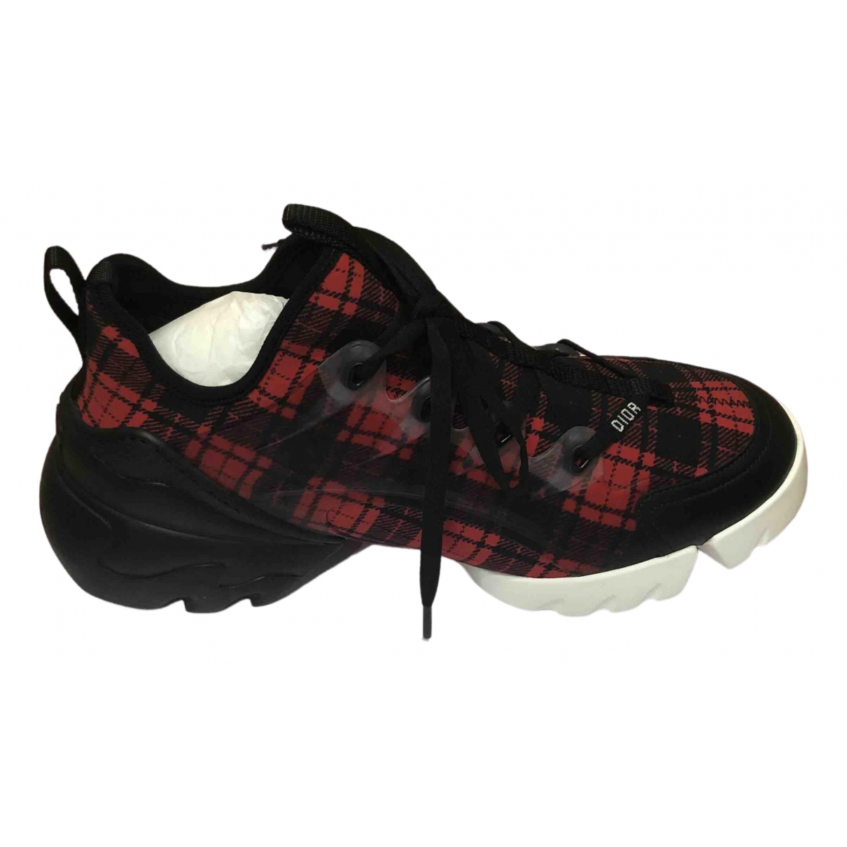 Dior D Connect Red Cloth Trainers for Women 40 EU
