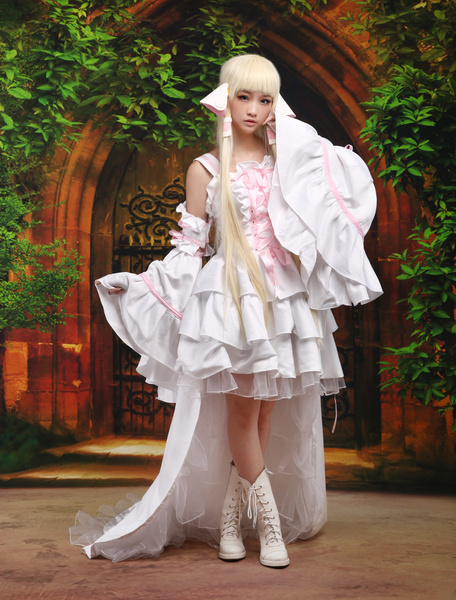 Milanoo Halloween Chobits Chii Halloween Cosplay Disfraz Blanco Vestido Lolita