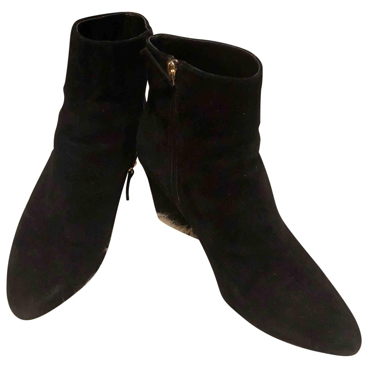 Nine West - Bottes   pour femme en velours - noir