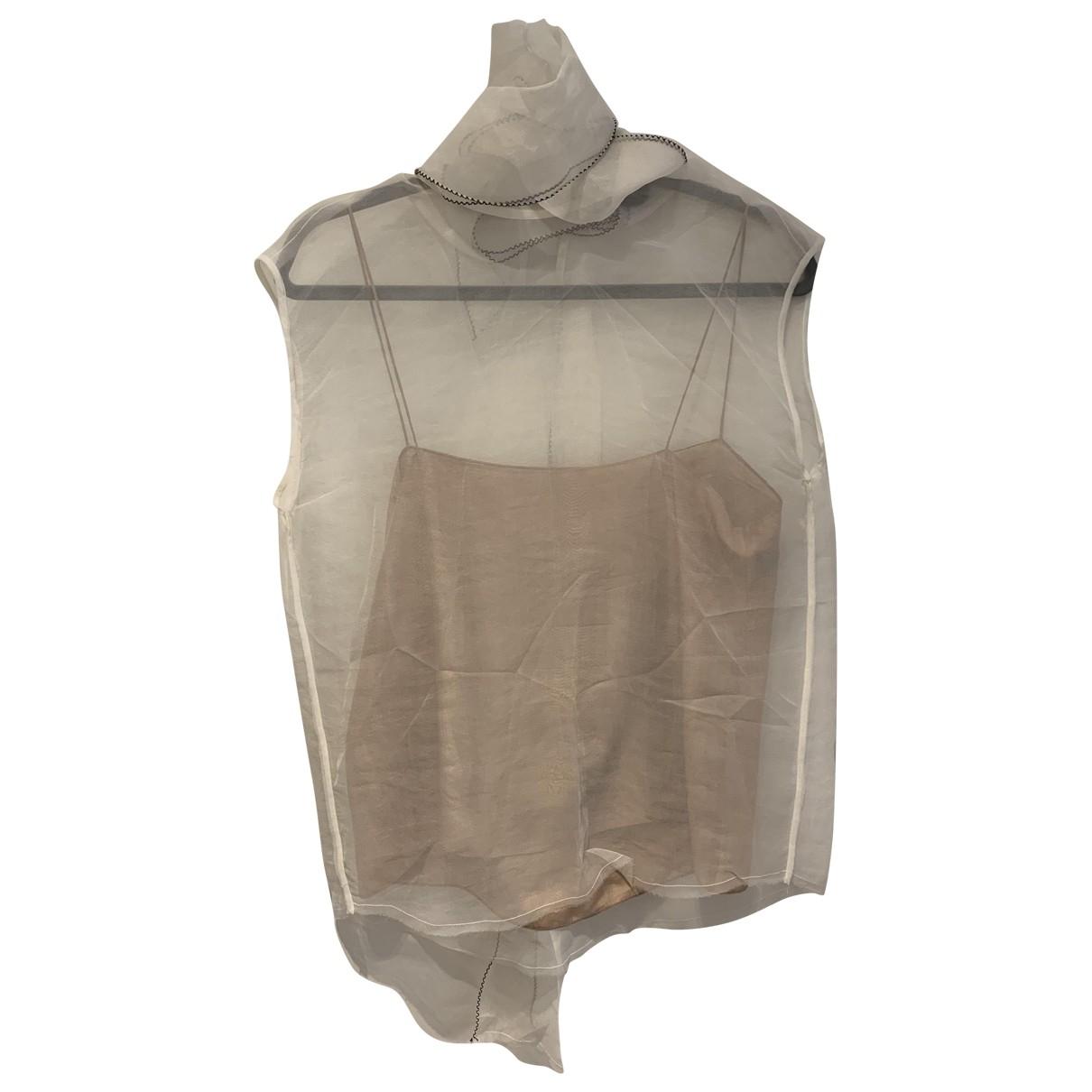 Lanvin \N White Silk  top for Women 38 FR