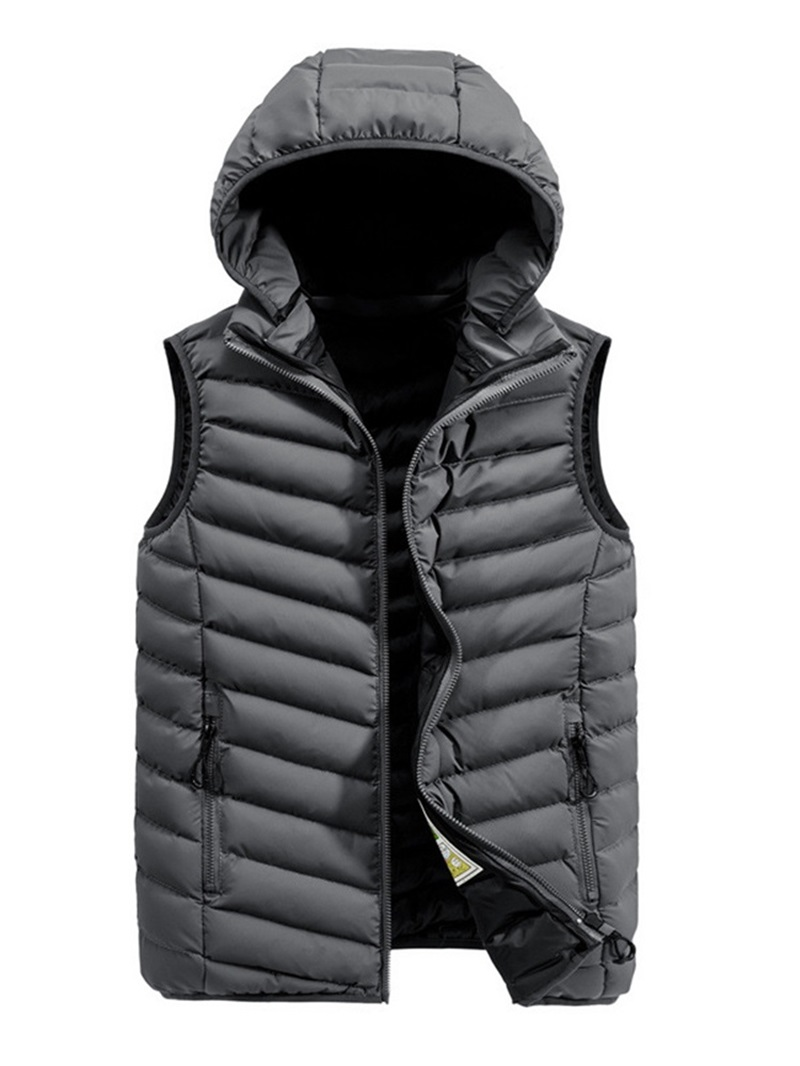 Ericdress Thick Plain Casual Zipper Men's Waistcoat