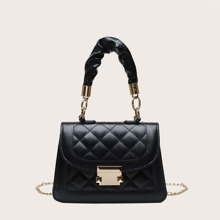 Quilted Chain Satchel Bag