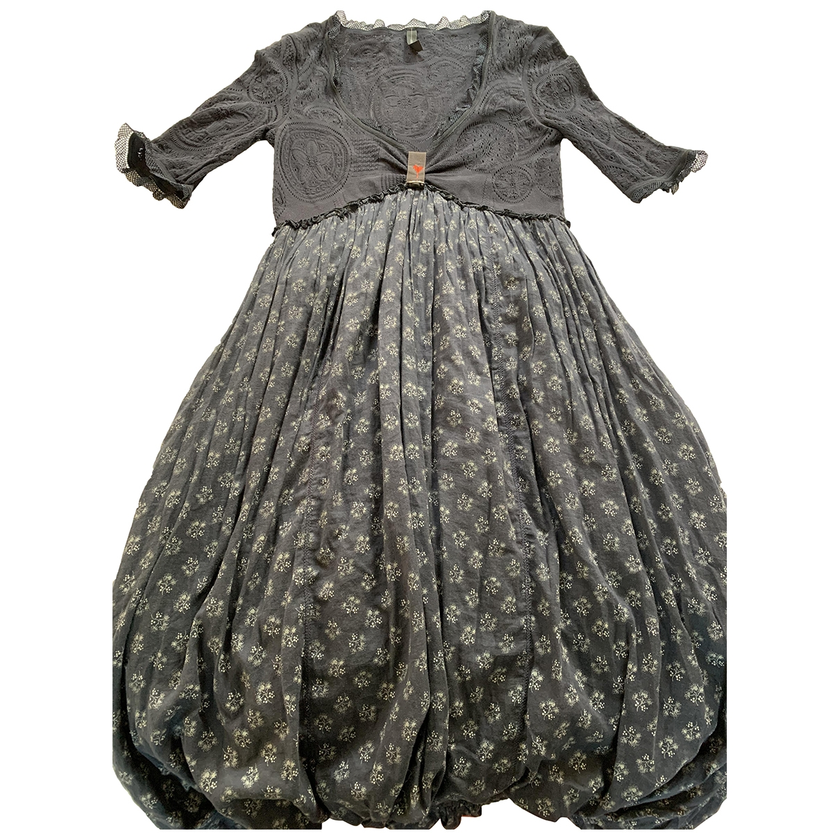- Robe   pour femme en coton - marine