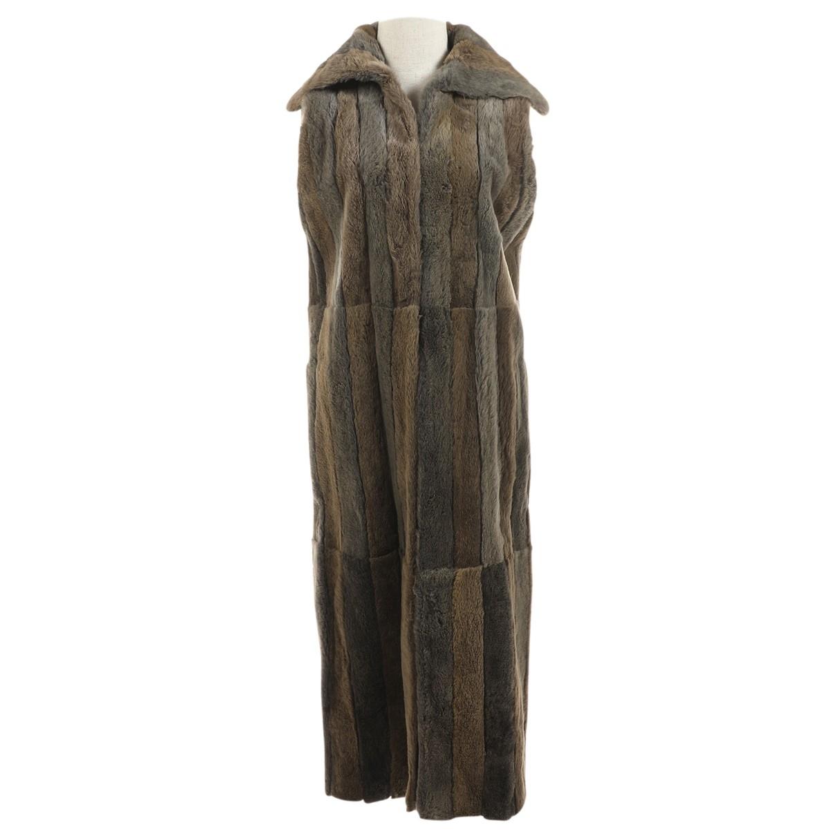 Fendi \N Brown Faux fur coat for Women One Size International