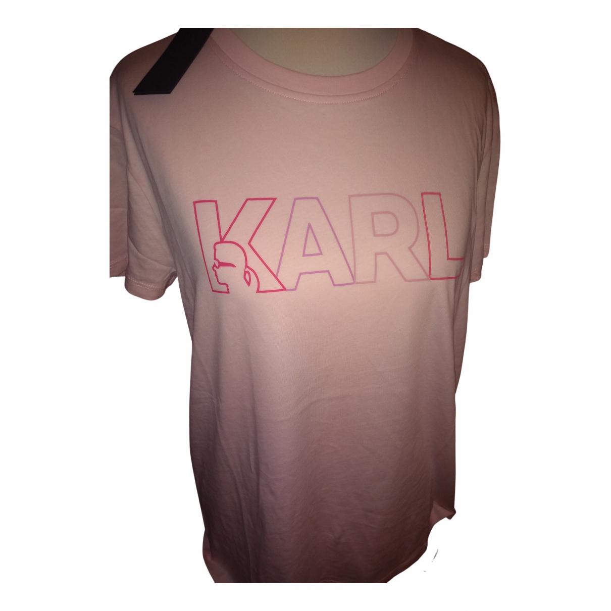 Karl Lagerfeld - Top   pour femme en coton - rose