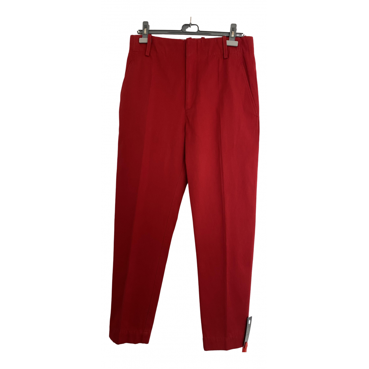Isabel Marant Etoile \N Red Cotton Trousers for Women 40 IT