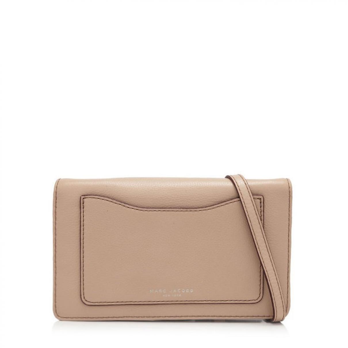 Marc Jacobs - Pochette   pour femme en cuir - beige