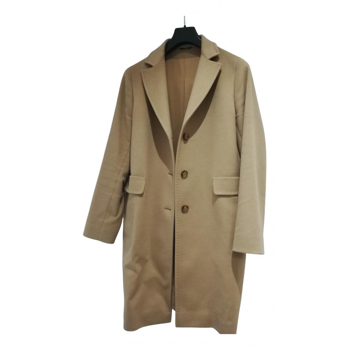- Manteau   pour femme en laine - camel