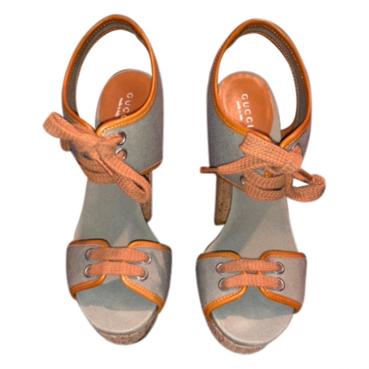 Gucci - Sandales   pour femme en toile - orange