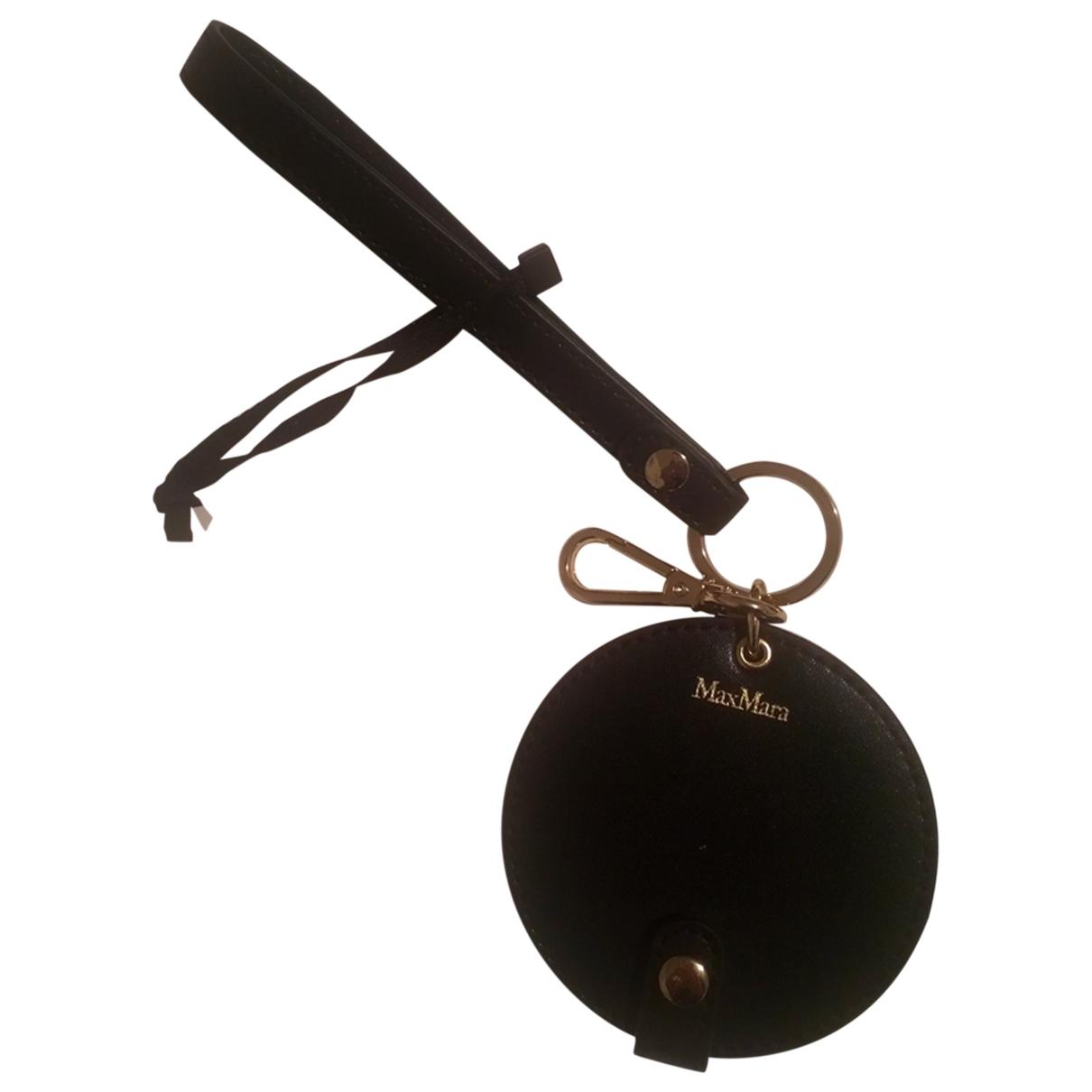 Max Mara - Petite maroquinerie   pour femme en cuir - noir