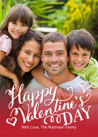 Valentine's Cards 5x7 Folded Cards, Premium Cardstock 120lb, Card & Stationery -Valentine Handwritten Script