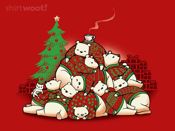 Good Night Xmas Bear T Shirt