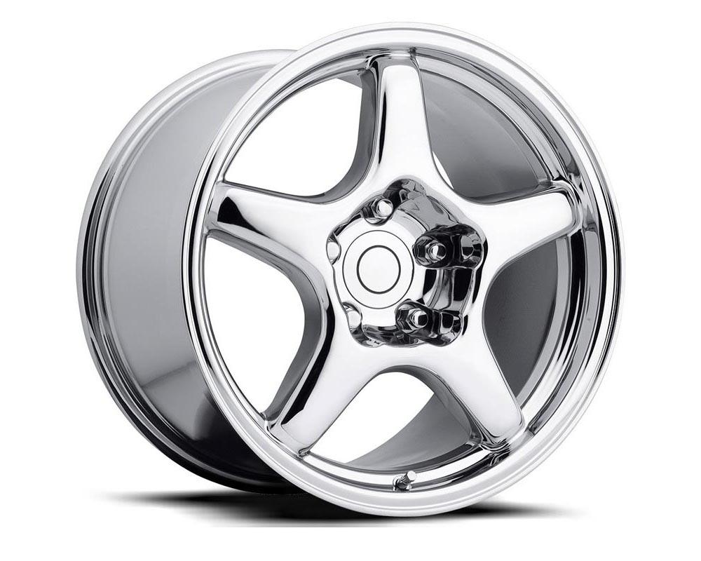 Factory Reproduction Series 21 Wheels 17x9.5 5x4.75 +54 HB 70.3 1984-1996 C4 ZR1 Corvette Silver Machine Lip w/Cap