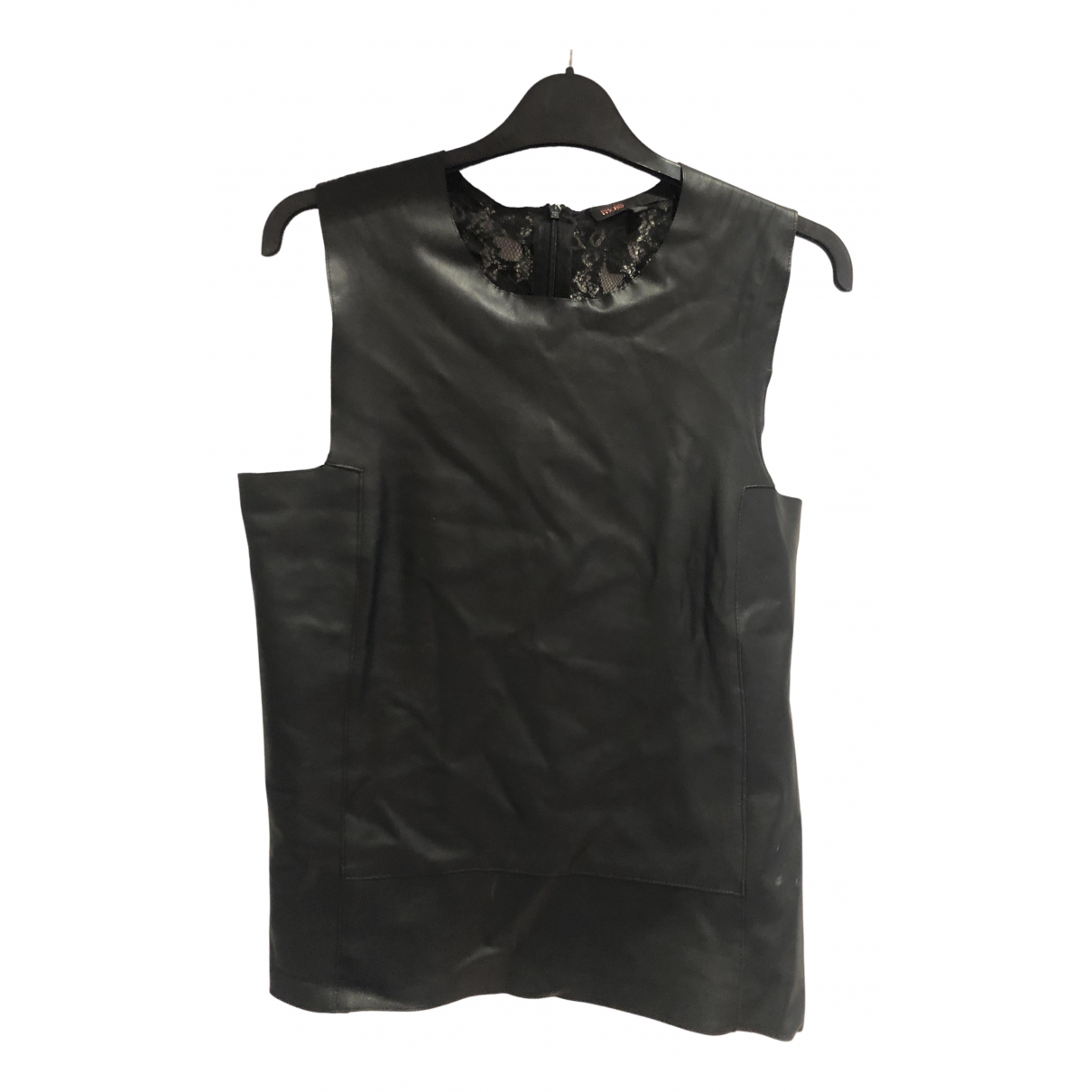 Maje \N Black Leather  top for Women 2 US