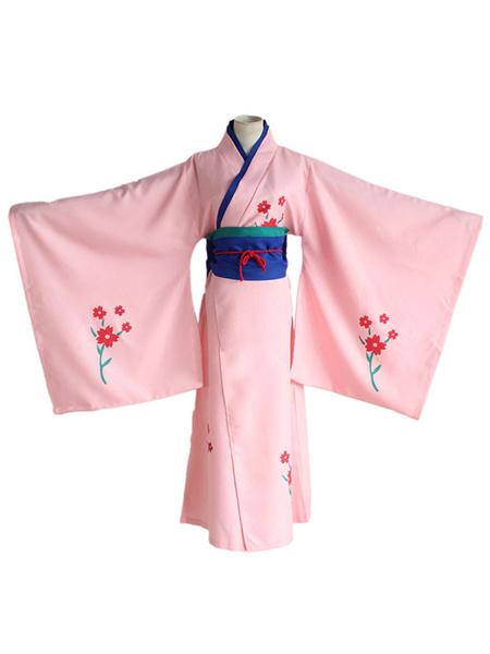 Milanoo Gintama Shimura Tae Cosplay Costume Japanese Kimono Halloween
