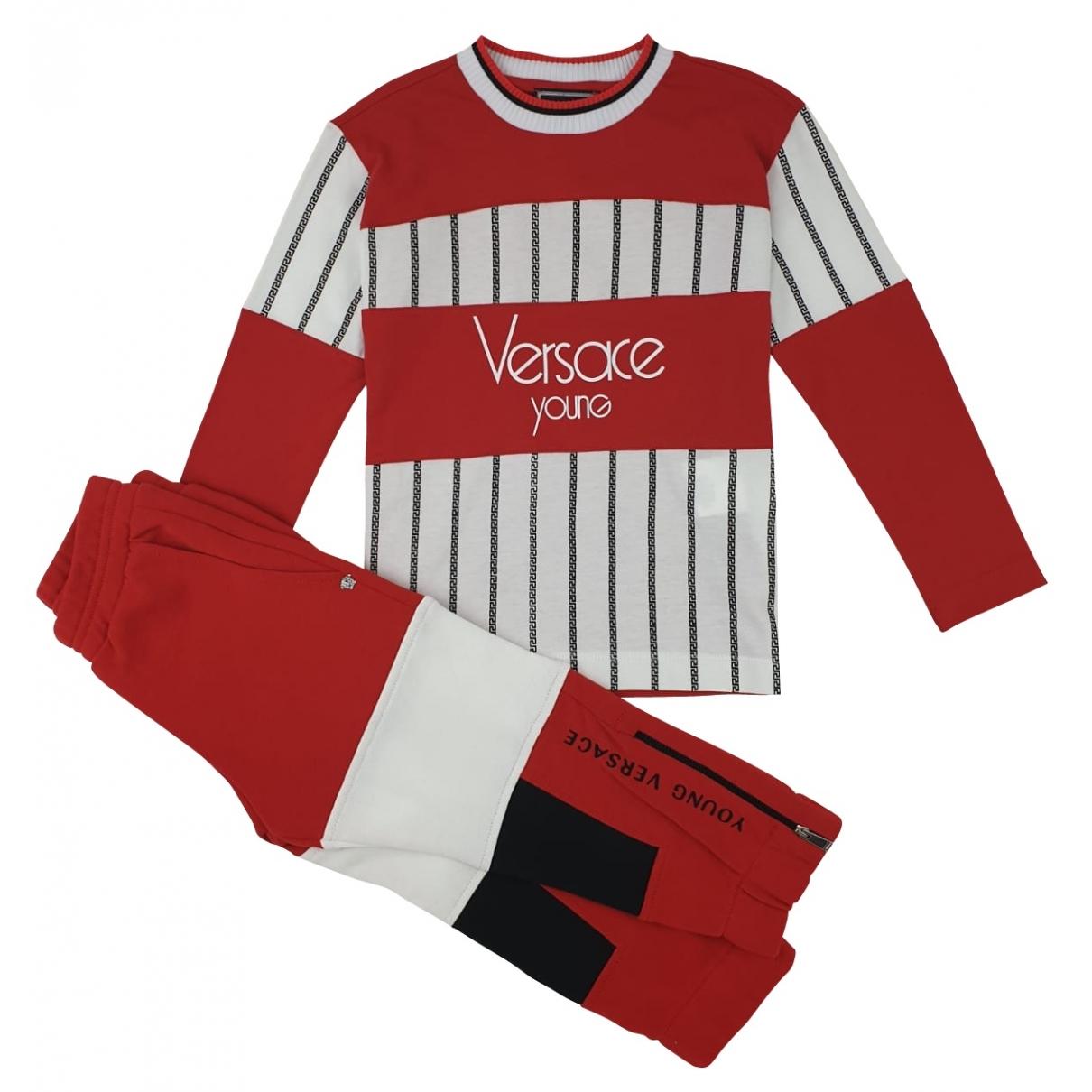 Versace - Les ensembles   pour enfant en coton - rouge