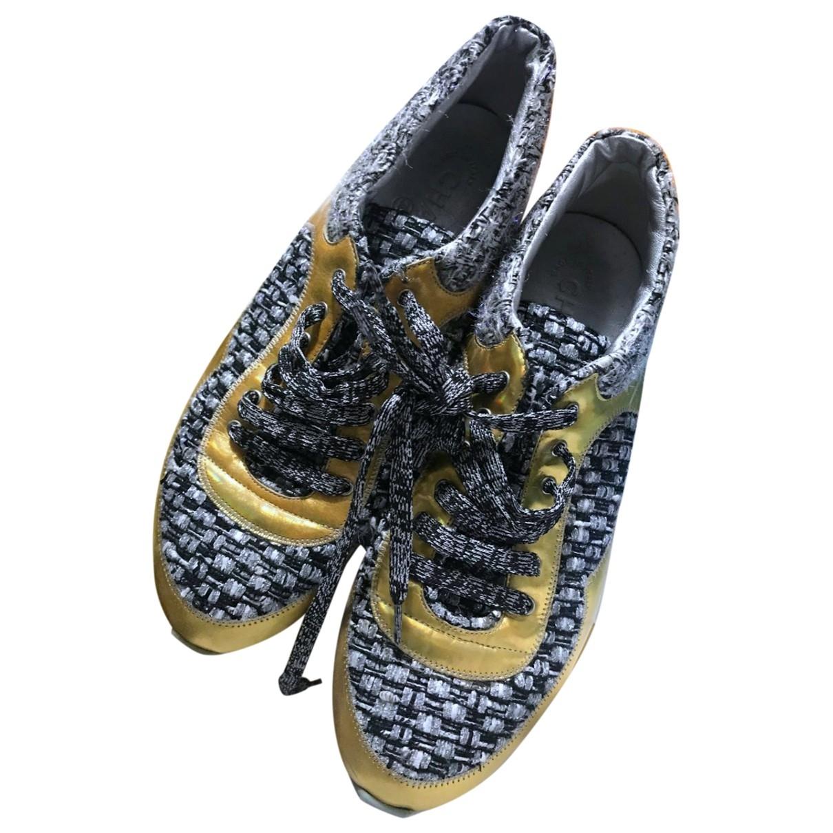 Chanel \N Sneakers in  Gold Tweed