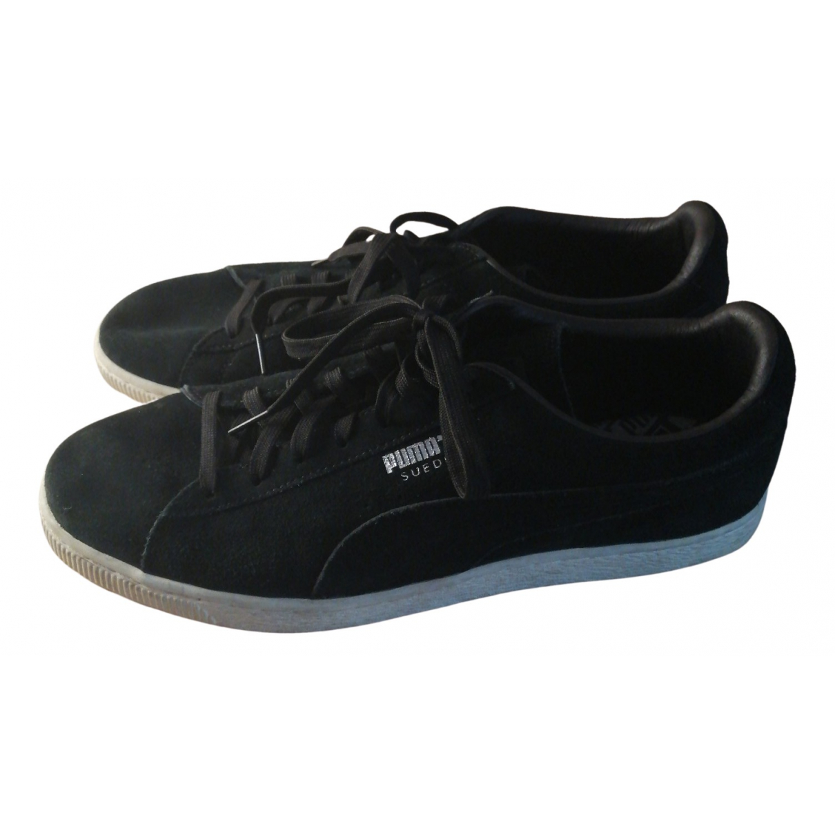 Puma N Black Suede Trainers for Men 44.5 EU