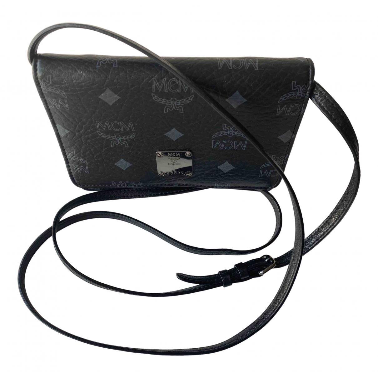 Mcm \N Black Patent leather handbag for Women \N