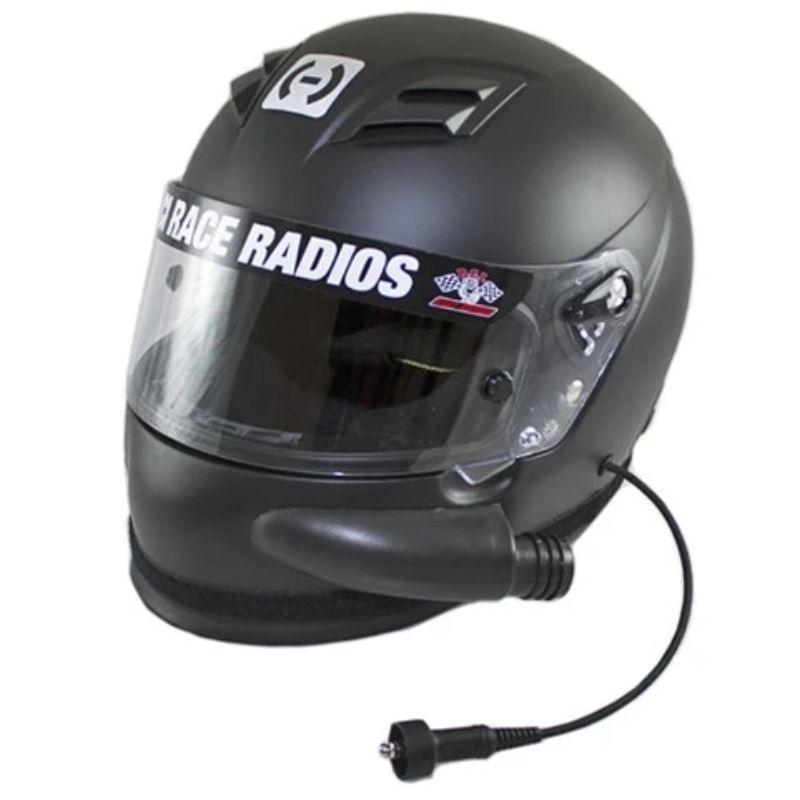 PCI Race Radios PRR2795 PCI HJC AR-10 III RaceAir Helmet SA2015 X-Large Black