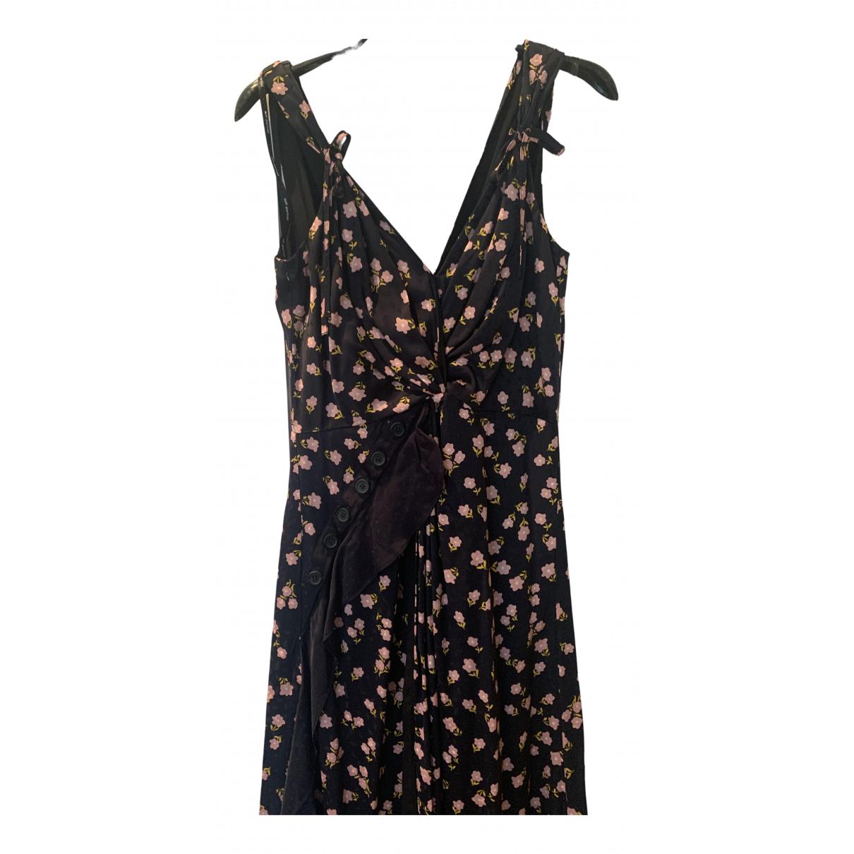 Self Portrait N Navy Silk dress for Women 10 UK