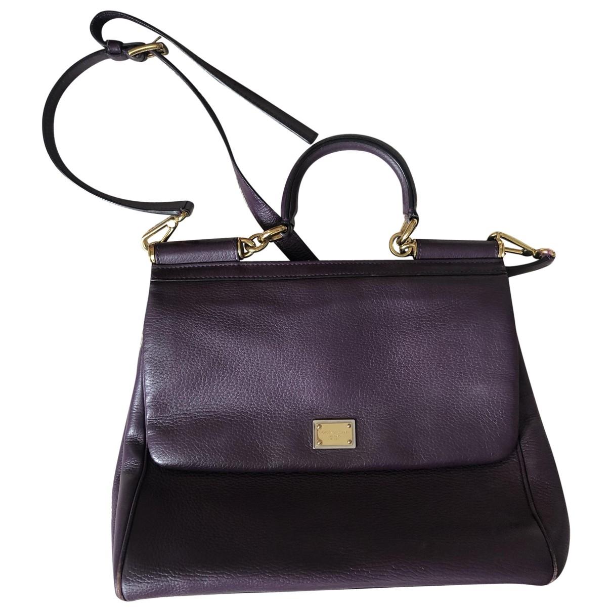 Dolce & Gabbana Sicily Purple Leather handbag for Women \N