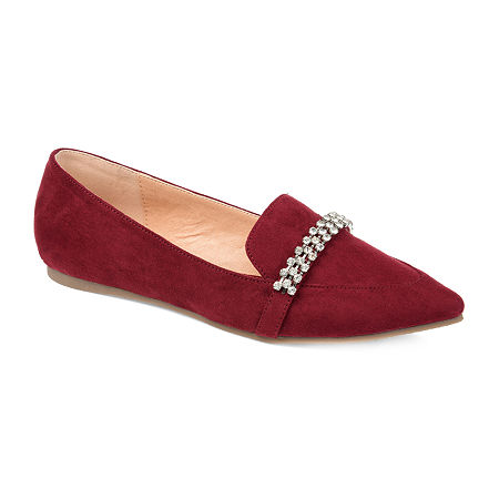 Journee Collection Womens Kyrah Loafers, 7 1/2 Medium, Red