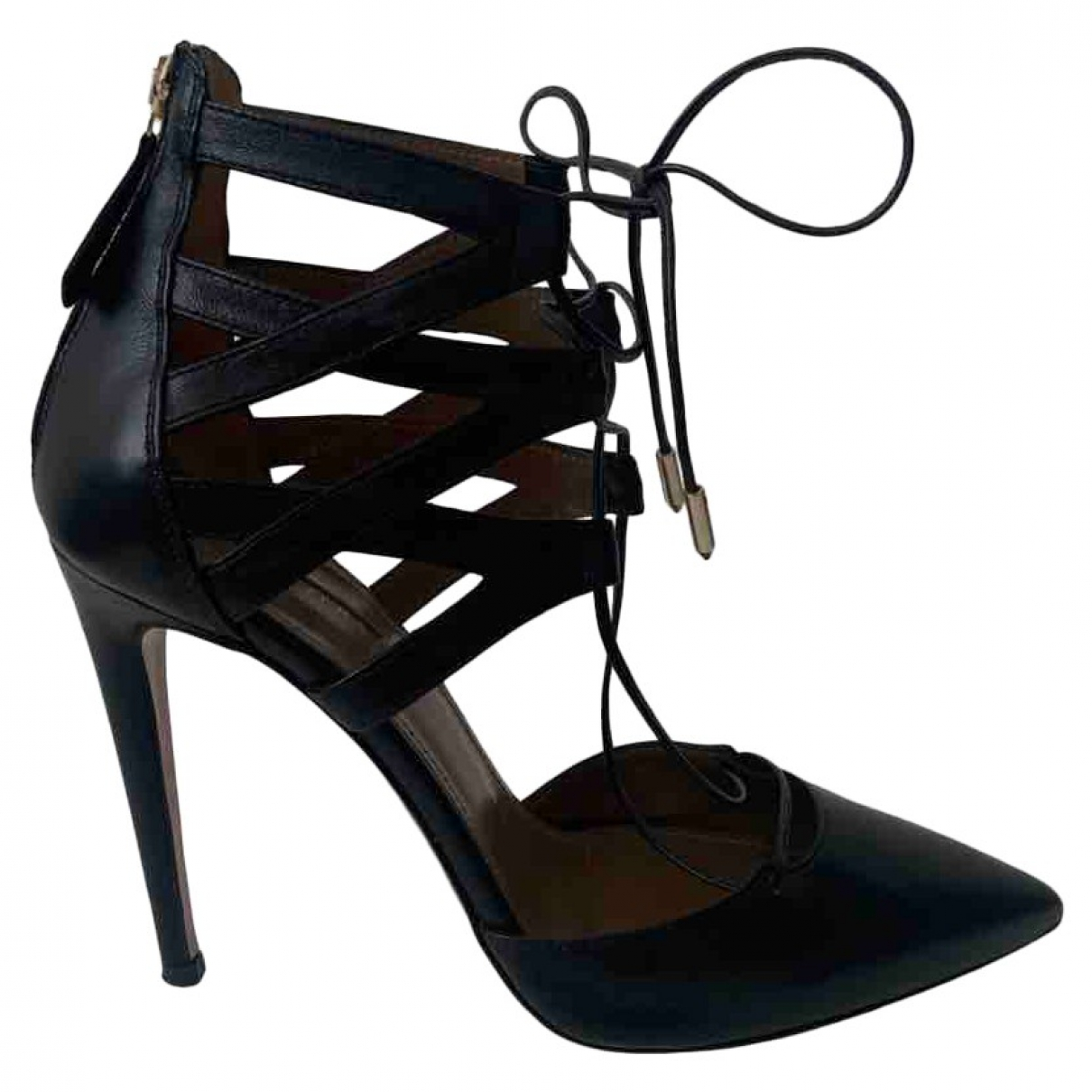Aquazzura Belgravia Pumps in  Schwarz Leder